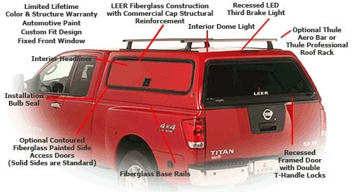 Leer 100rcc Fiberglass Truck Cap At Truck Outfitters Plus