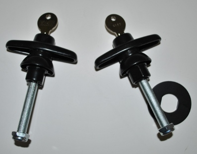 All Glass Rear Door T Handles - Pair